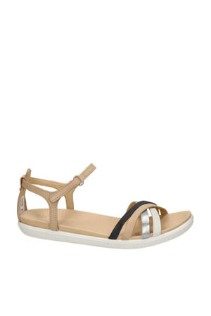Simpil  leren sandalen beige/multi