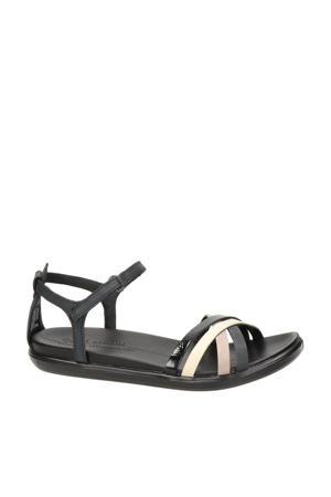 Simpil  leren sandalen zwart/multi