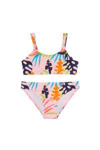 C&A Rodeo crop bikini met all over print roze/oranje/zwart, Roze/oranje/zwart