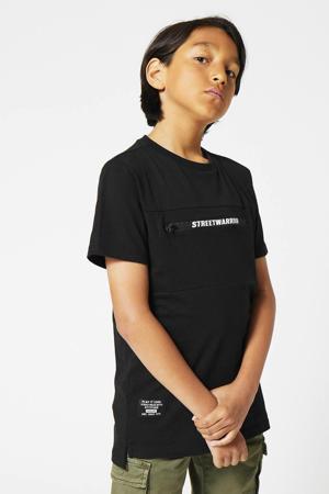 T-shirt Eman met printopdruk zwart