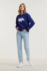POLO Ralph Lauren sweater met printopdruk blauw, Blauw