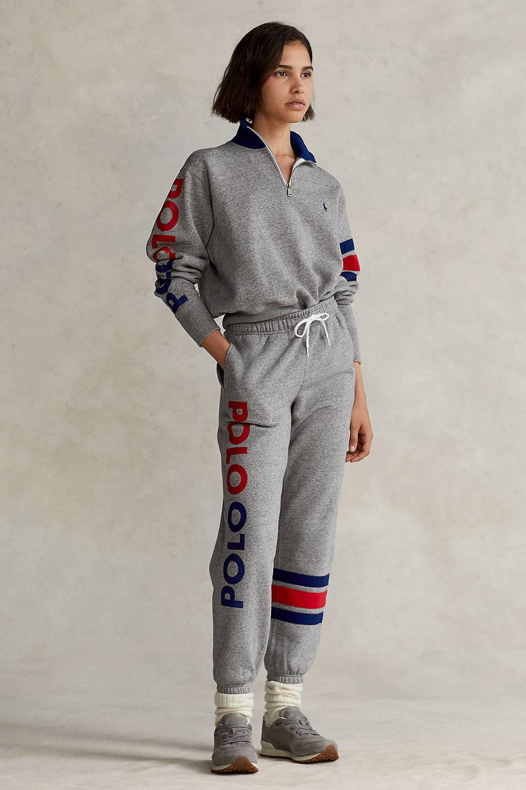 POLO Ralph Lauren trui met logo grijs, Grijs