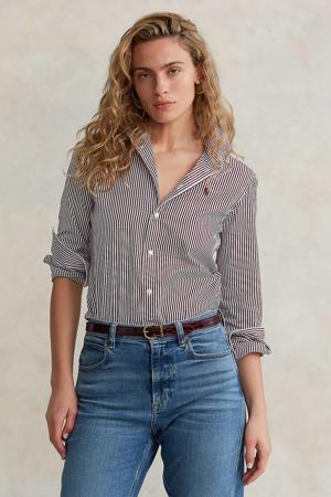 gestreepte blouse wit/rood