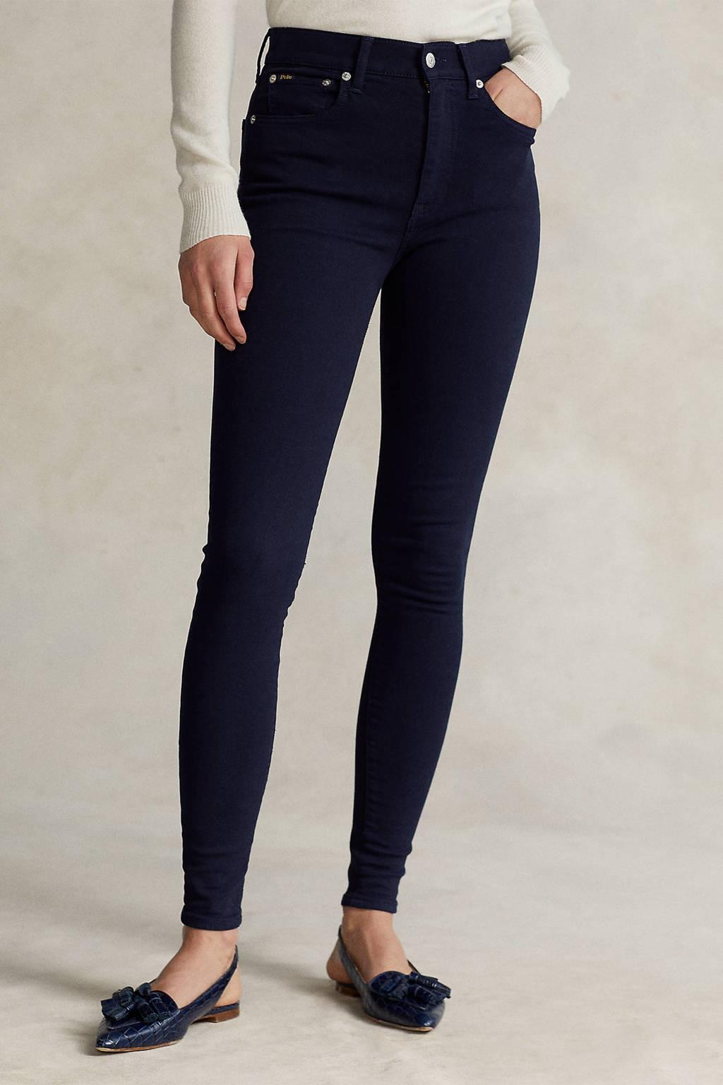 POLO Ralph Lauren high waist skinny jeans donkerblauw, Donkerblauw