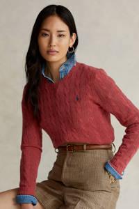 POLO Ralph Lauren gebreide trui met wol donkerrood, Donkerrood