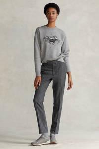 POLO Ralph Lauren gemêleerde sweater grijs melange/grijs/zwart, Grijs melange/grijs/zwart