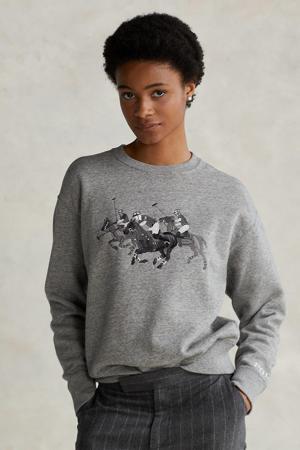 gemêleerde sweater grijs melange/grijs/zwart