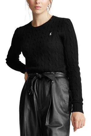 gebreide trui met wol zwart