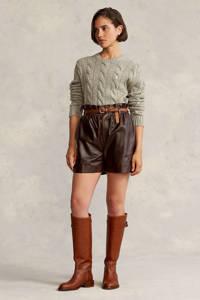 POLO Ralph Lauren gebreide kabeltrui met wol lichtgroen, Lichtgroen