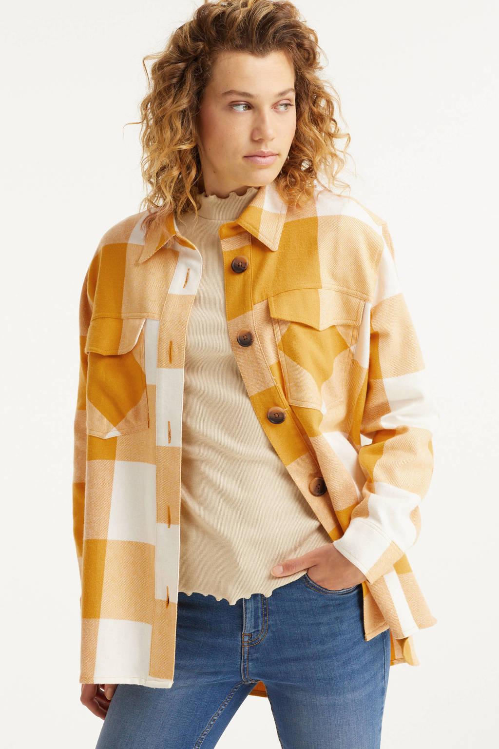 anytime geruite shacket geel, Gele ruit