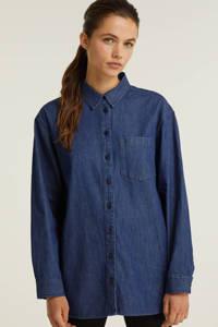 anytime oversized denim blouse blauw, Blauw denim
