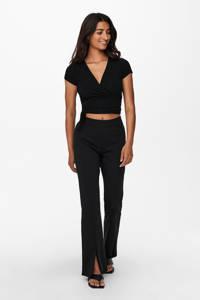 ONLY flared broek ONLCIANA zwart, Zwart