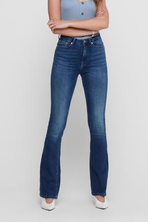 high waist flared jeans ONLPAOLA medium blue denim