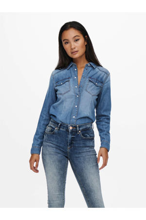 blouse ONLROCK IT blauw