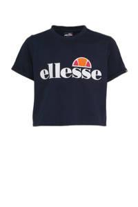 Ellesse cropped T-shirt donkerblauw, Donkerblauw
