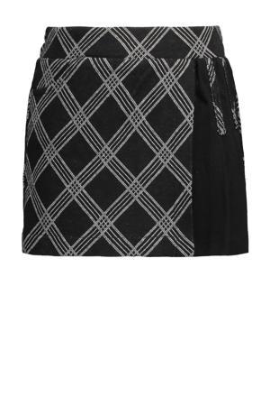 geruite rok zwart/grijs