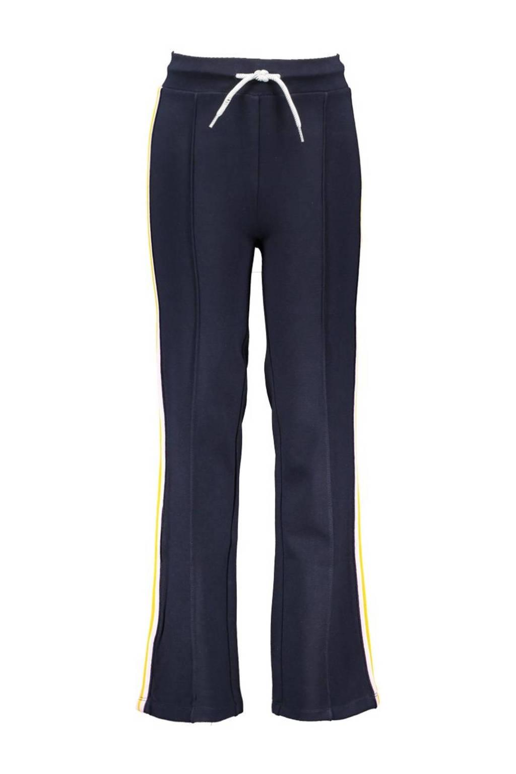 B.Nosy straight fit broek met zijstreep nachtblauw, Nachtblauw