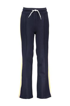 straight fit broek met zijstreep nachtblauw