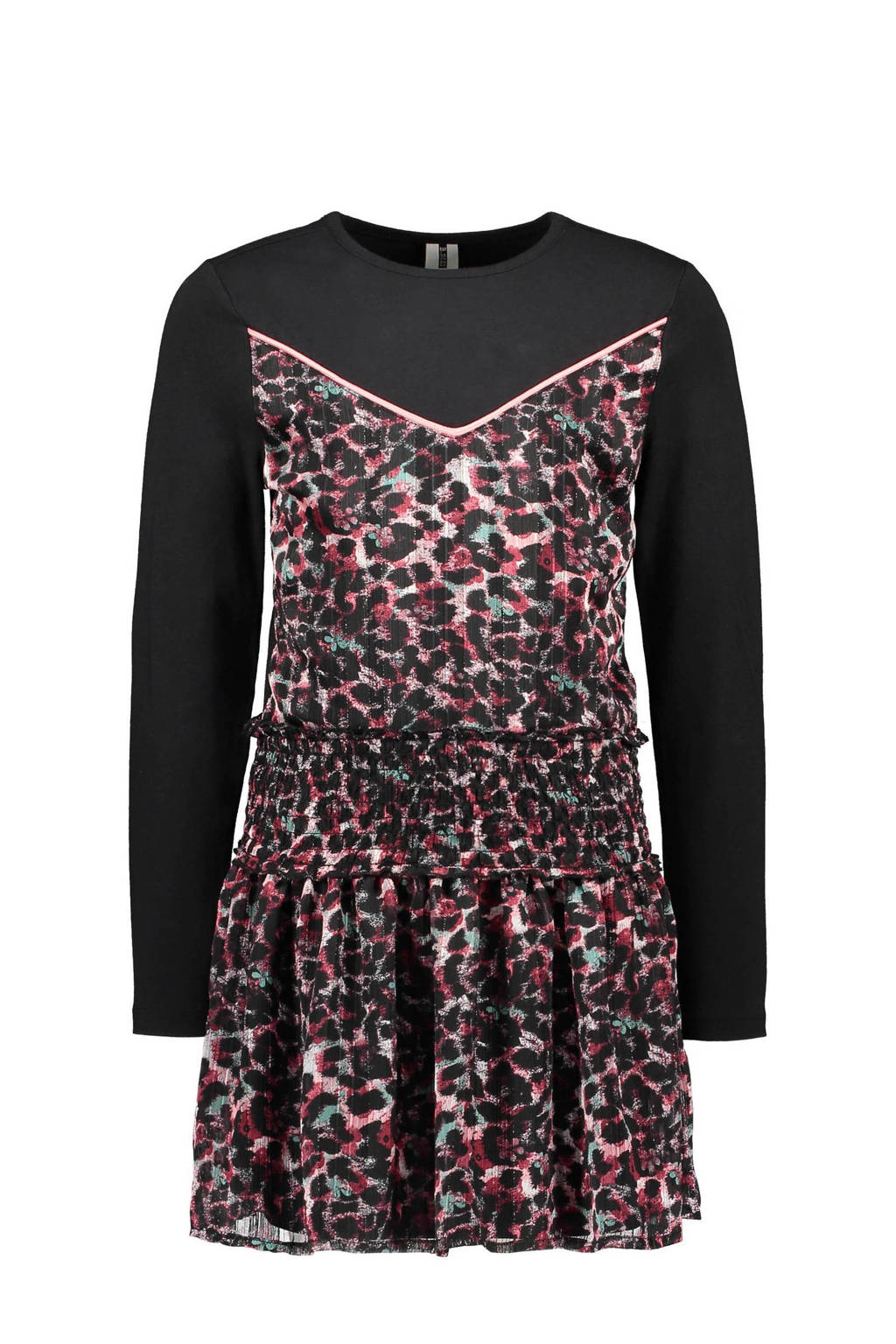 B.Nosy jurk met all over print roze/zwart, Roze/zwart
