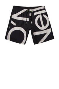 O'Neill zwemshort Cali Zoom met logo zwart/wit, Zwart/wit