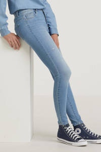 ONLY extra low waist skinny jeans ONLCORAL light blue denim, Light blue denim
