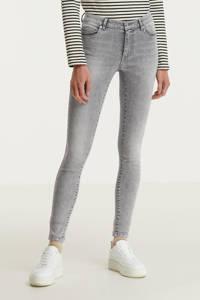ONLY extra low waist skinny jeans ONLCORAL light grey denim, Light Grey Denim