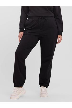 high waist tapered fit broek VMOCTAVIA met biologisch katoen zwart