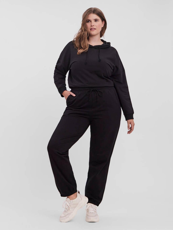 VERO MODA CURVE high waist tapered fit broek VMOCTAVIA met biologisch katoen zwart, Zwart