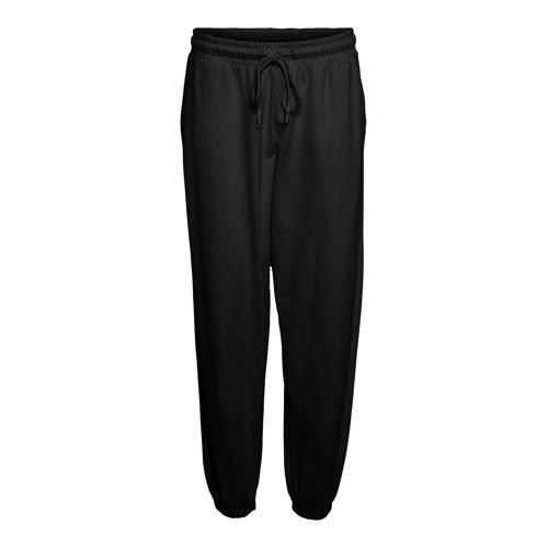 VERO MODA CURVE high waist tapered fit broek VMOCTAVIA met biologisch katoen zwart