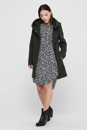 coat ONLSEDONA donkergroen