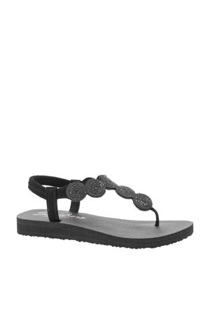 sandalen met strass zwart