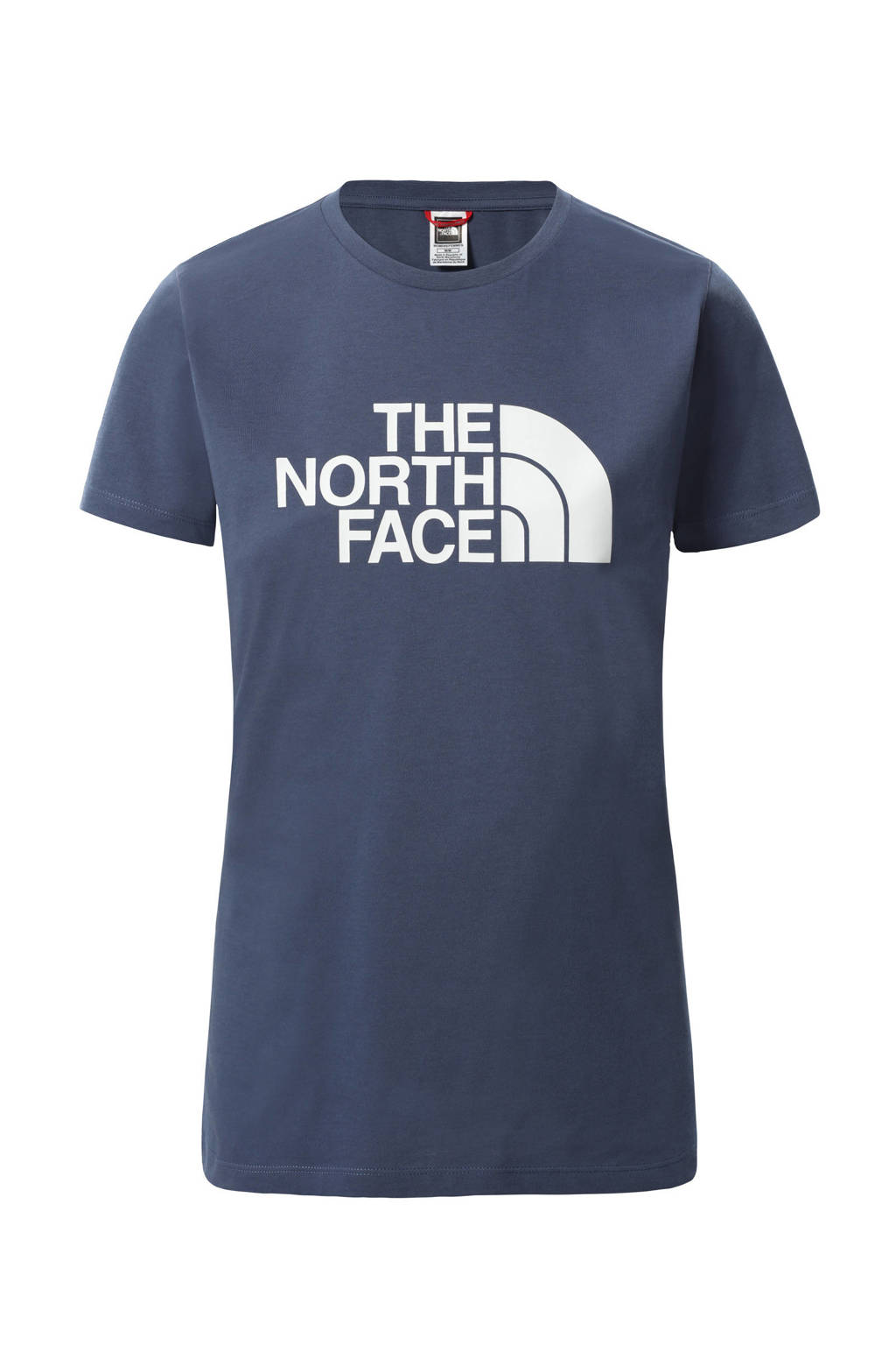 The North Face T-shirt Easy blauw/wit, Blauw/wit