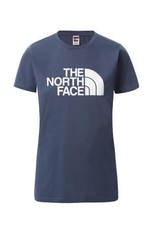 T-shirt Easy blauw/wit