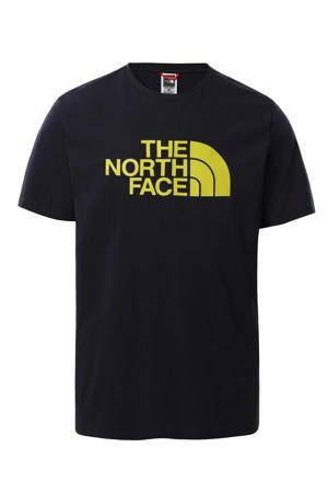T-shirt Easy donkerblauw/geel