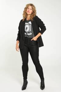 Paprika T-shirt met printopdruk antraciet/wit/zwart, Antraciet/wit/zwart