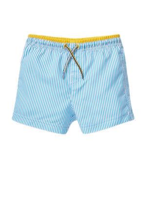 gestreepte zwemshort blauw/wit