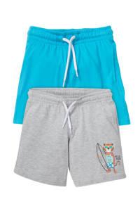 C&A korte broek - set van 2 grijs/turquoise, Grijs