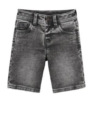 slim fit jeans bermuda grijs