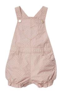 C&A Baby Club babyregular fit tuinbroek met stippen nougat, Nougat