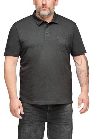 regular fit polo Plus Size grijs