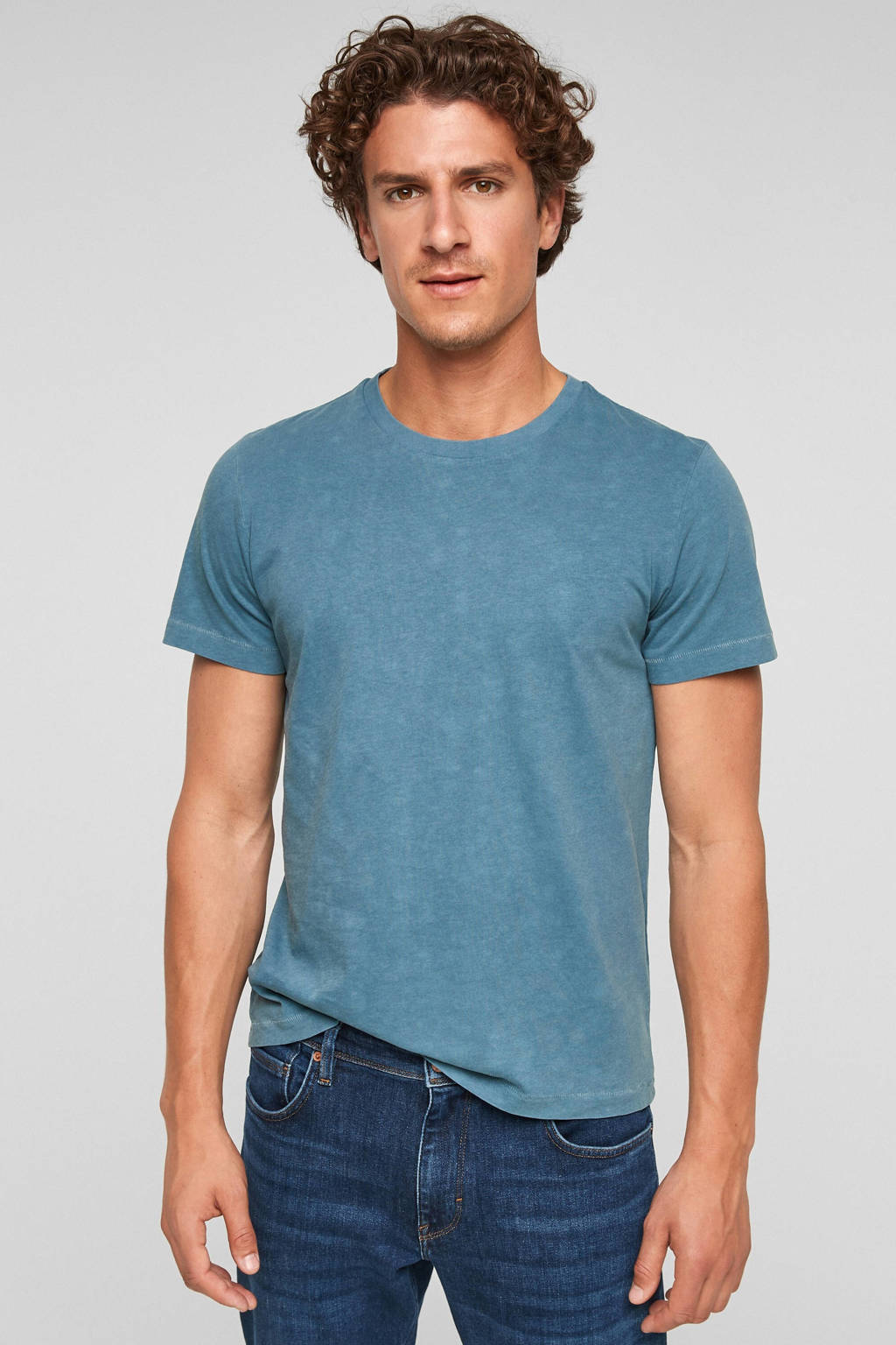s.Oliver T-shirt lichtblauw, Lichtblauw