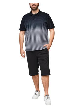 gestreepte regular fit polo Plus Size blauw
