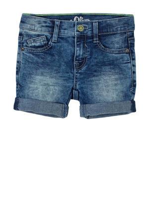 regular fit jeans bermuda stonewashed