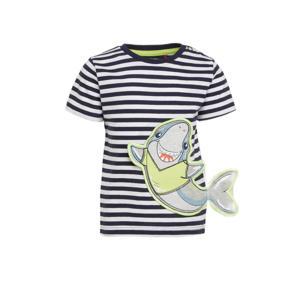 baby gestreept T-shirt marine/wit