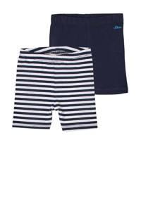 s.Oliver short - set van 2 donkerblauw/wit, Donkerblauw/wit