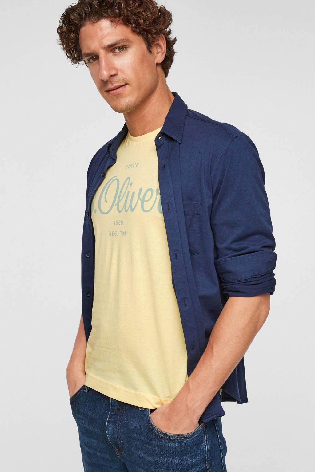 s.Oliver T-shirt met logo lichtgeel, Lichtgeel