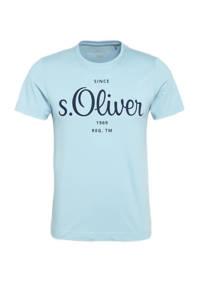 s.Oliver regular fit T-shirt met logo blauw, Blauw