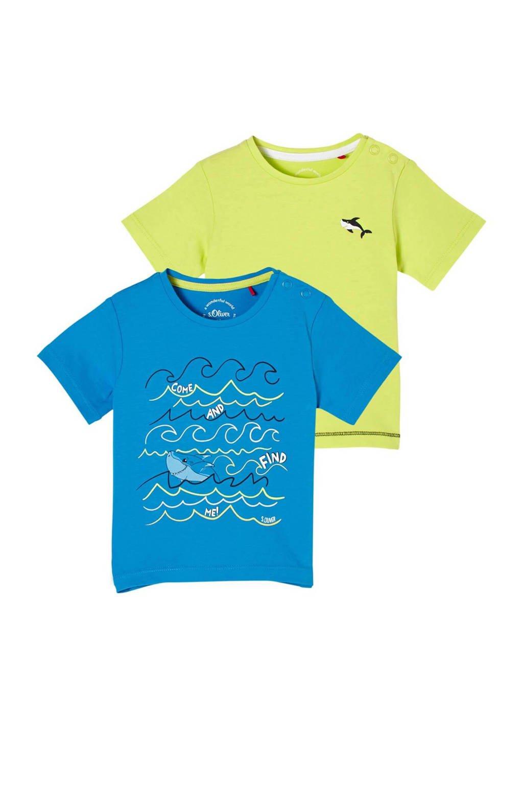 s.Oliver T-shirt - set van 2 multi color, Multi