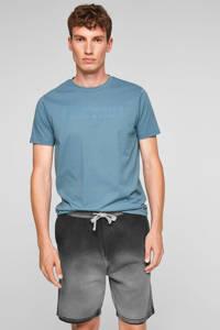 Q/S designed by tie-dyeregular fit short zwart, Zwart