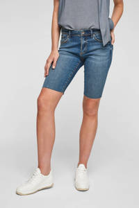 s.Oliver slim fit bermuda jeans blue denim, Blue denim